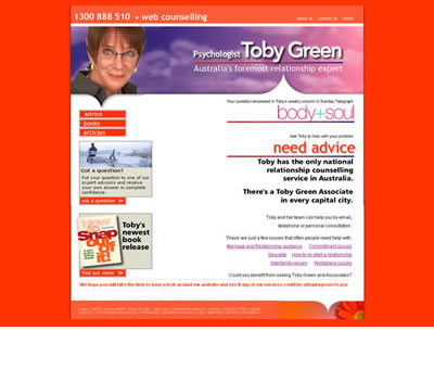 Toby Green form the SMH newspaper - web counselling online