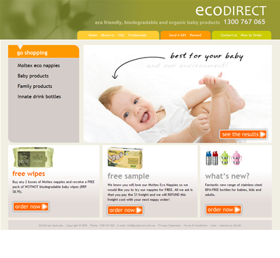 Eco-friendly Baby Products website